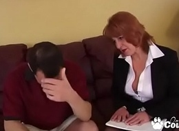 Chunky Old MILF Calliste Comes To Collect In Dick
