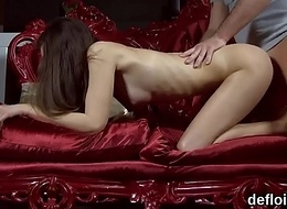 Enlivened nymphomaniac opens up wet hole and receives deflorated