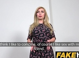 Fake Agent Hot Blonde Chubby Tits Russian gets a Facial