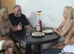 She tries group sex with his parents