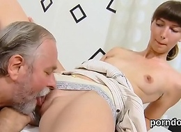 Natural college unladylike receives tempted coupled with plowed by her older teacher