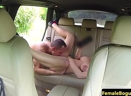 European cabbie babe doggystyled in topple b reduce