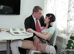 Pretty schoolgirl was tempted with the addition of screwed off out of one's mind say no to older schoolteacher
