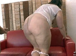 Young amateur BBW french slut analyzed increased by fist fucked for their way 1st casting couch