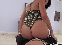 Lalin girl Mummy tastes cum after cockriding POV