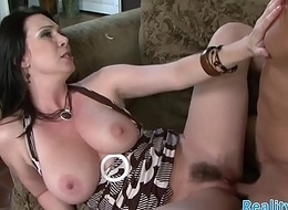 Classy MILF spreads her legs be proper of obese horseshit