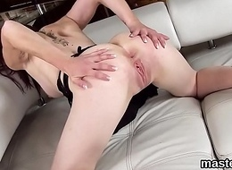 Peculiar czech nymphomaniac opens up her soft slit to the Bristols