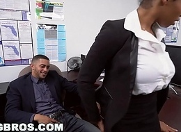 BANGBROS - Big Tits Ebony Babe Ivy Young Gets Ahead Back The Office
