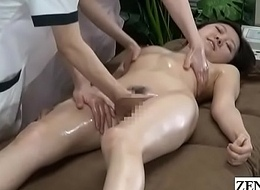JAV CFNF faggot rub-down clinic fingering course Subtitled