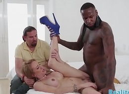 Out-and-out milf doggystyled around cuckold action