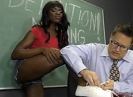 Clouded Partisan Seduces Her Teacher Into Becoming Her Slave- Ana Foxxx Femdom