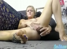 hot blonde milf ate will not hear of own squirt CamJoie.com